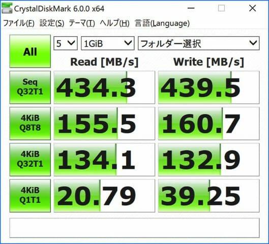 SurfaceBook2 15inch SSDベンチ 外部