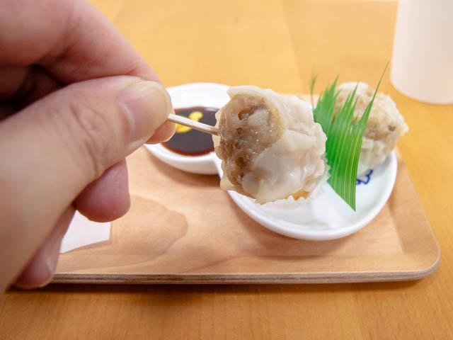 崎陽軒 試食の実食