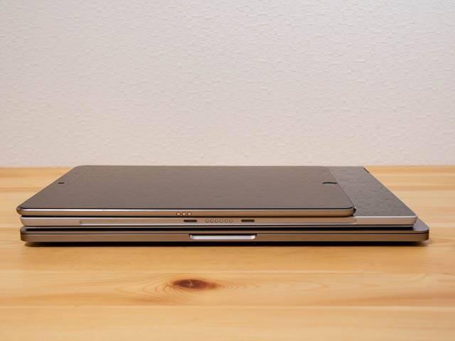 SurfaceProLTE タブレットサイズ比較厚さ