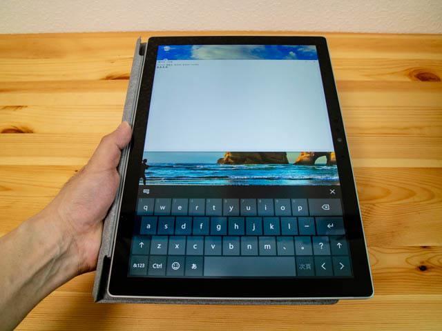 SurfaceProLTE タブレットタイプカバー装着