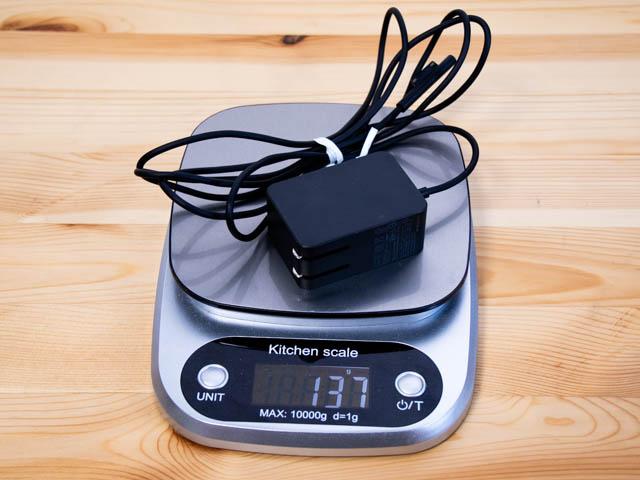 SurfaceGo ACアダプター重量