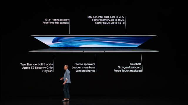 AppleSpecialEvent201810 MacBookAir 仕様