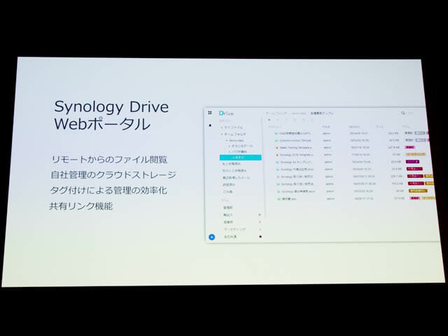 Synology2019Tokyo SynologyDriveWebポータル