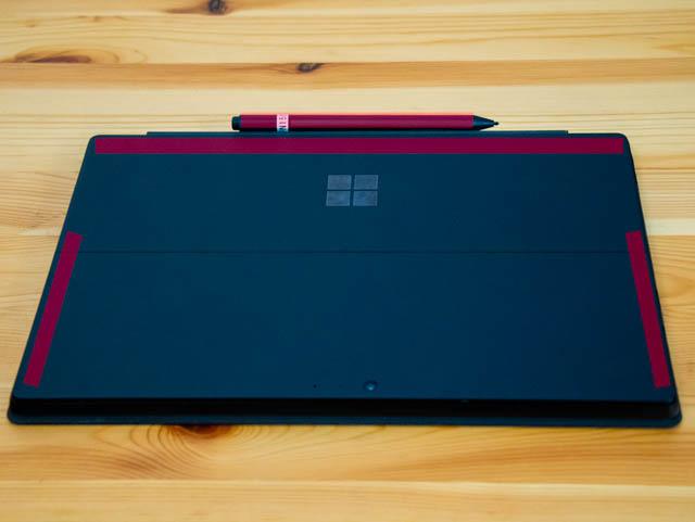 SurfacePro6 ペン固定位置背面