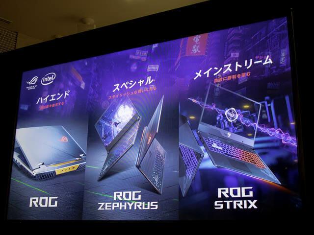 ASUS2019年ROG RGOシリーズ構成