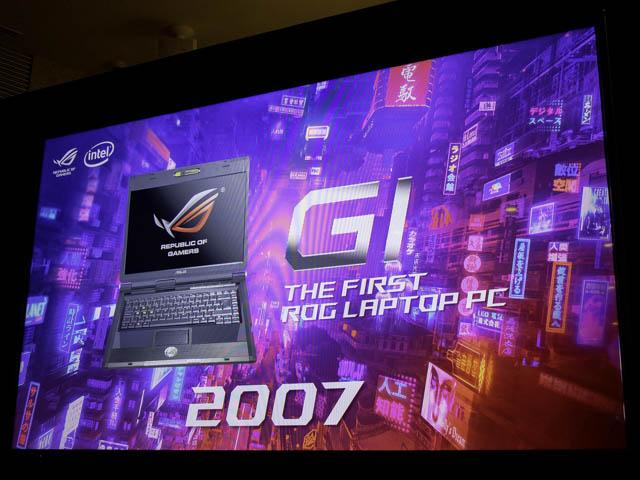 ASUS2019年ROG ROG歴史2007