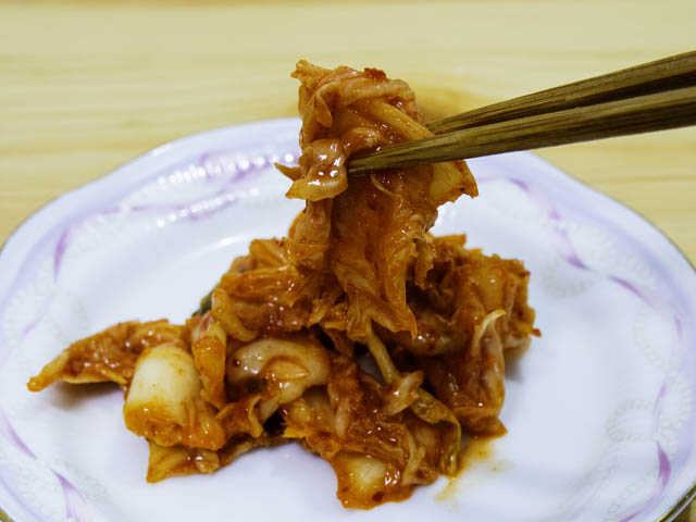 業務スーパー-白菜キムチ 実食