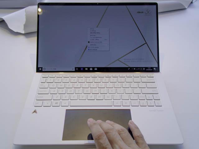 ASUS-ZenBook-Edition30 2本指クリック