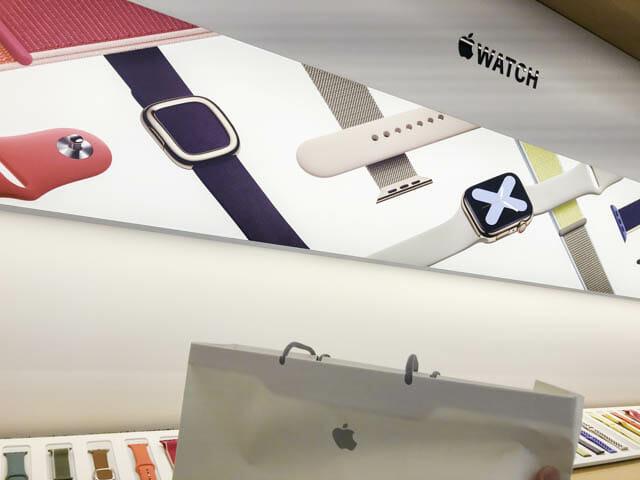 AppleWatchSeries5開封の儀 Appleストア