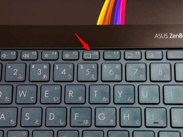 ASUS-ZenBookProDuo F6キー