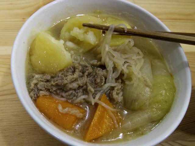 ショップジャパン-クッキングプロ 肉じゃが-実食