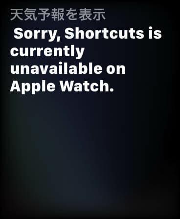 AppleWatchSeries5使用1か月 Siriショートカット不具合