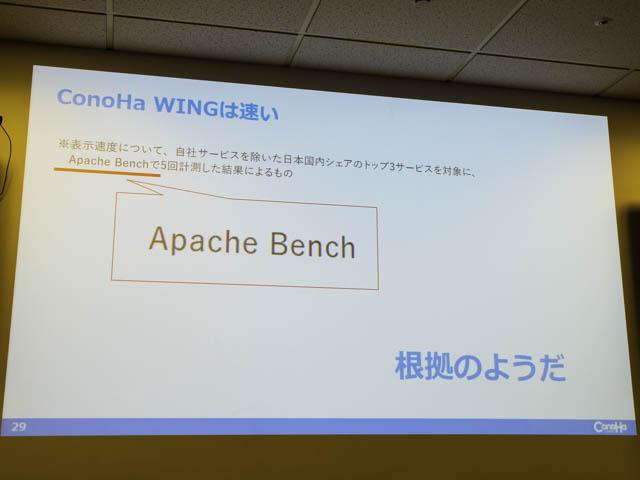 レンタルサーバーConoHa-WING 国内最速-計測方法Apache-Bench
