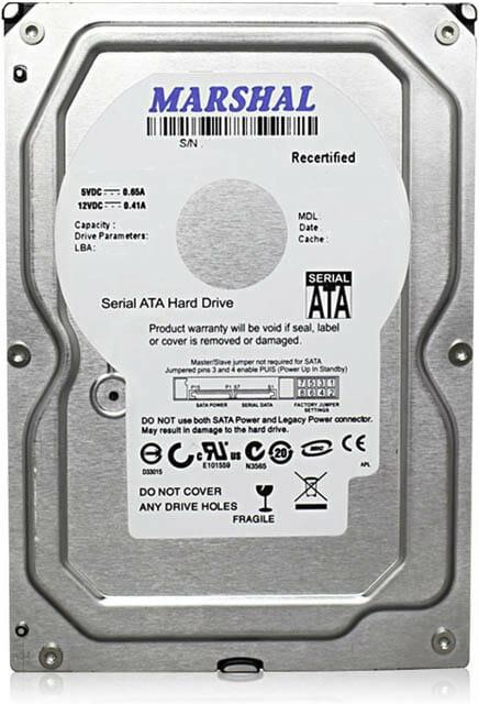 3.5インチ内蔵HDDのTB単価が1,600円台 MARSHAL3.5HDD6TB