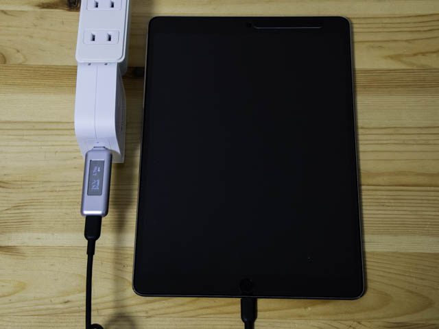 RAVPower90W充電器 iPad Pro 10.5インチ-初動電力