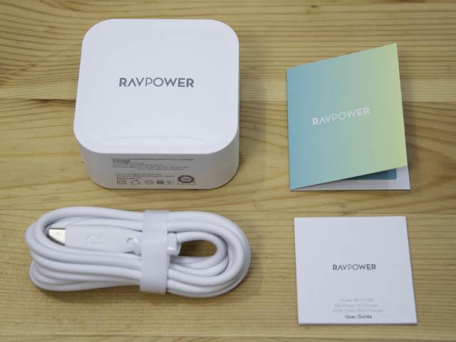 RAVPower90W充電器 同梱物