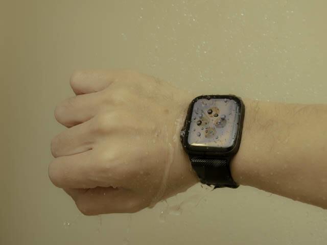 AppleWatch保護フィルム決定版 ベルキン-浸水テスト