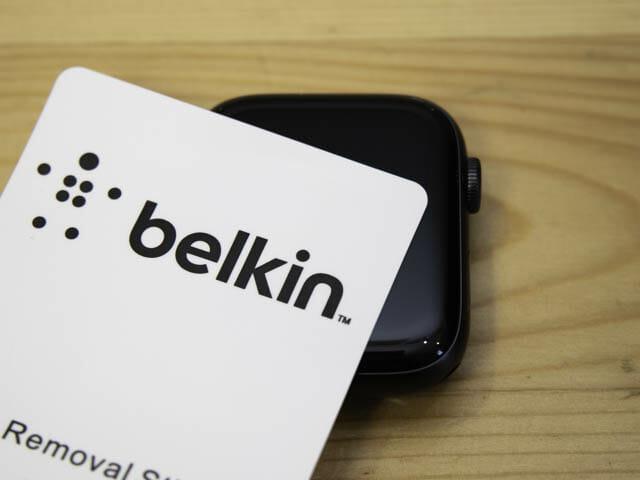 AppleWatch保護フィルム決定版 ベルキン-ホコリ
