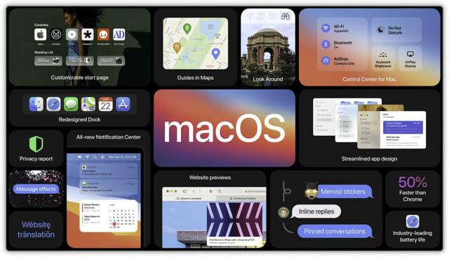 WWDC20 macOS11.0-アップデート一覧