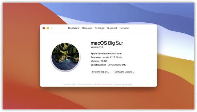 WWDC20 macOS11.0-ナンバリング