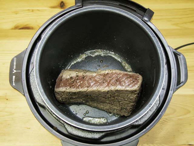 ショップジャパン-クッキングプロ ローストビーフ-焼き色