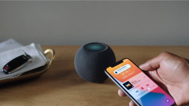 AppleEvent202010 HomePod-mini_iPhoneから再生転送