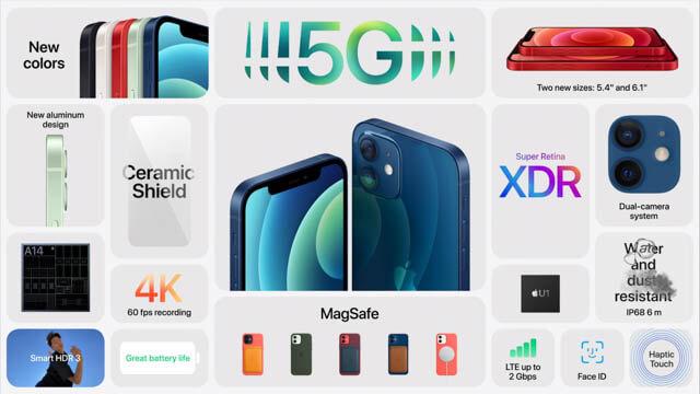 AppleEvent202010 iPhone-12性能一覧表